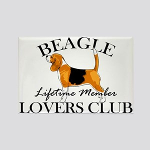 Beagle Lover's Club Rectangle Magnet