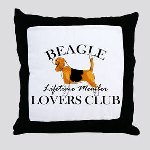 Beagle Lover's Club Throw Pillow
