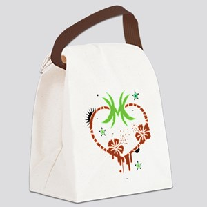 Palm heart Canvas Lunch Bag