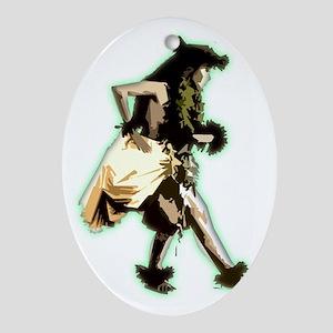 hula dancer Oval Ornament