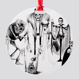 Classic movie monsters Round Ornament