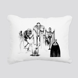 Classic movie monsters Rectangular Canvas Pillow