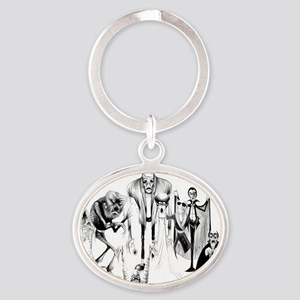 Classic movie monsters Oval Keychain