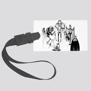 Classic movie monsters Large Luggage Tag