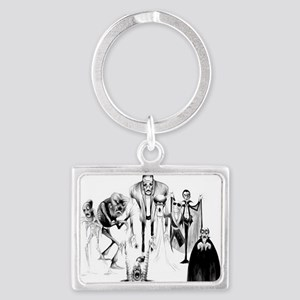 Classic movie monsters Landscape Keychain