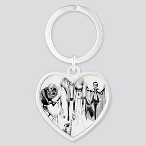 Classic movie monsters Heart Keychain