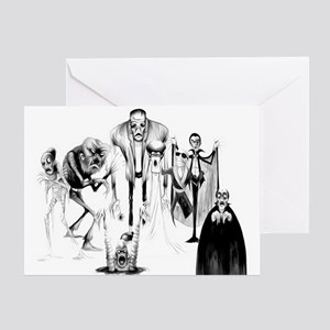 Classic movie monsters Greeting Card