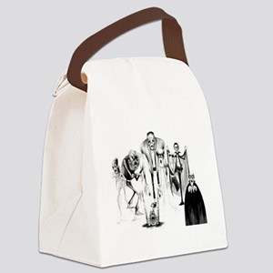 Classic movie monsters Canvas Lunch Bag