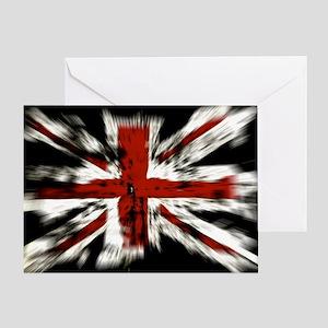 UK Flag England Greeting Card