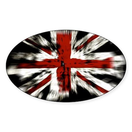 UK Flag England Sticker (Oval)