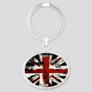 UK Flag England Oval Keychain
