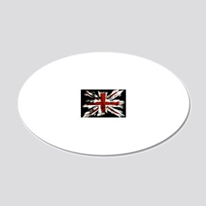 UK Flag England 20x12 Oval Wall Decal