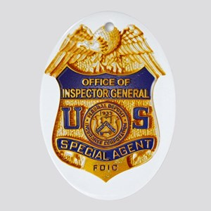 FDIC OIG Special Agent badge Oval Ornament