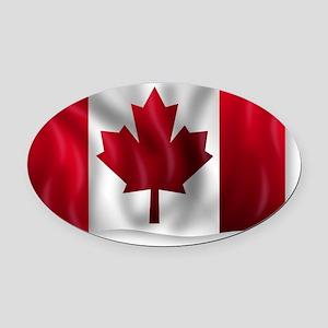 Canada Flag Oval Car Magnet