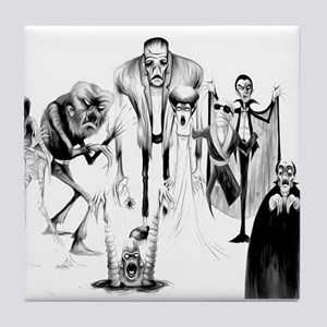 Classic movie monsters Tile Coaster