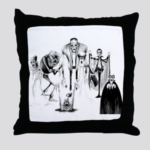 Classic movie monsters Throw Pillow