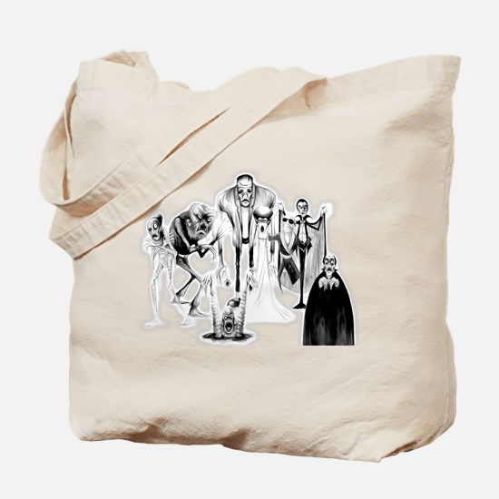 Classic movie monsters Tote Bag