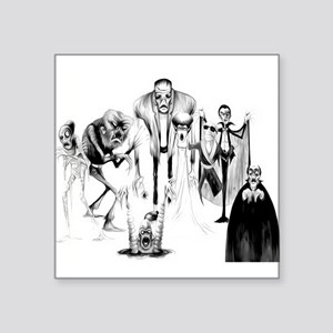 """Classic movie monsters Square Sticker 3"""" x 3"""""""