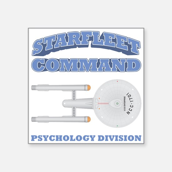 "Starfleet Psychology Division Square Sticker 3"" x"