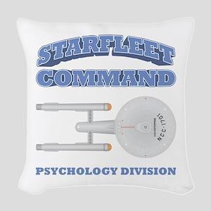 Starfleet Psychology Division Woven Throw Pillow