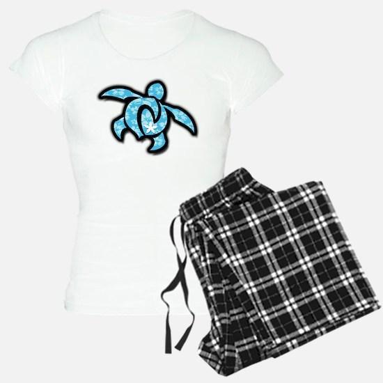 blue hawaiian print turtle Pajamas