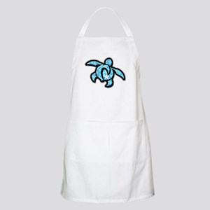 blue hawaiian print turtle Apron