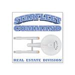 Starfleet Real Estate Division Square Sticker 3