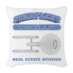 Starfleet Real Estate Division Woven Throw Pillow