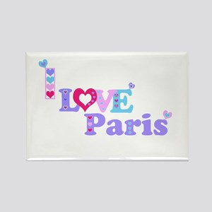 Cute Girly I LOVE PARIS Magnets
