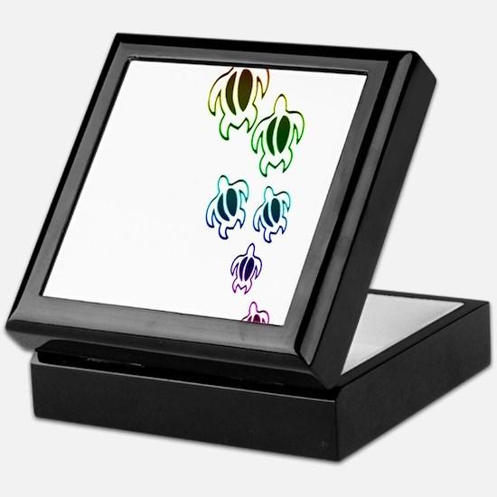 Rainbow turtles Keepsake Box