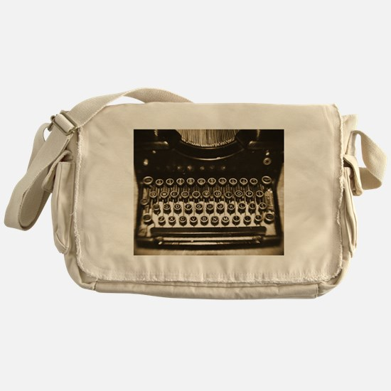 Vintage Typewriter Messenger Bag