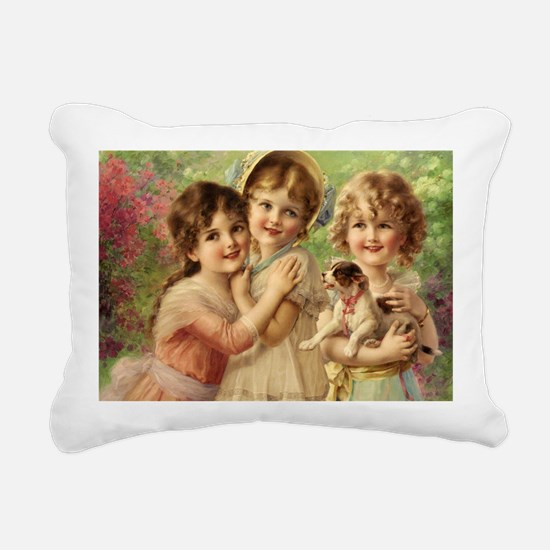 Vintage Victoria oil pai Rectangular Canvas Pillow