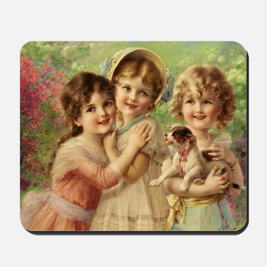 Vintage Victoria oil painting. Best of F Mousepad