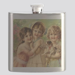 Vintage Victoria oil painting. Best of Frien Flask