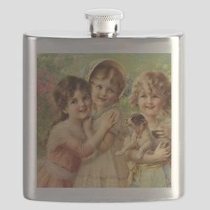 Vintage Victoria oil painting. Best of Frien Flask