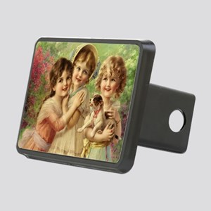 Vintage Victoria oil paint Rectangular Hitch Cover