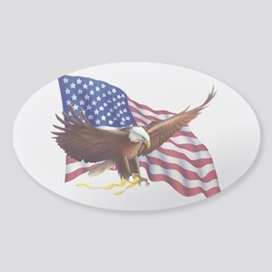 American Flag and Eagle - Patriotism Sticker