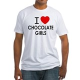 I love chocolate girls Fitted Light T-Shirts