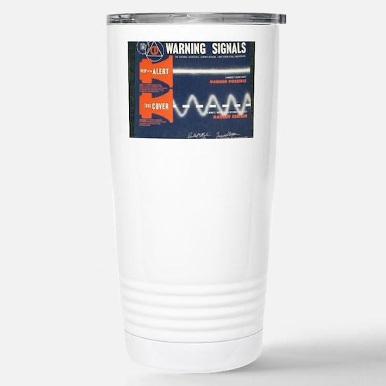 Civil Defense Stainless Steel Travel Mug