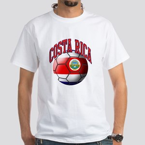 Flag of Costa Rica White T-Shirt
