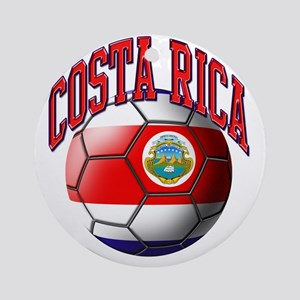 Flag of Costa Rica Round Ornament