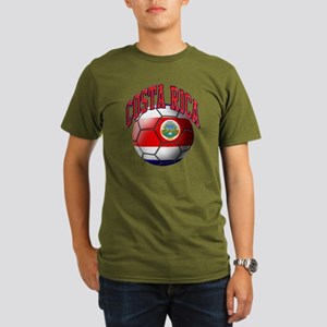 Flag of Costa Rica Organic Men's T-Shirt (dark)