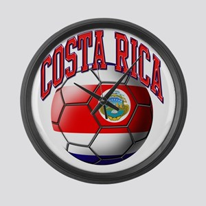 Flag of Costa Rica Large Wall Clock