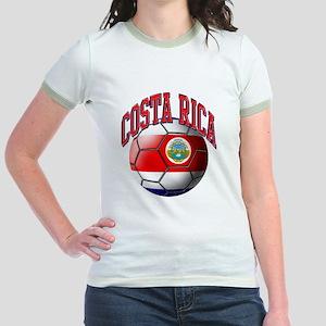 Flag of Costa Rica Jr. Ringer T-Shirt