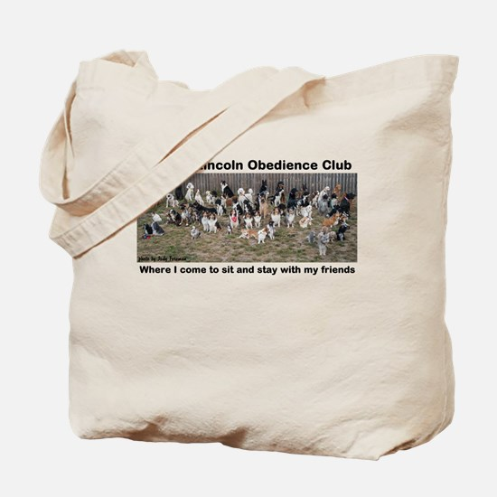 65 Dogs Sitting Together Tote Bag