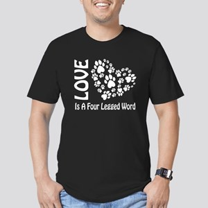 Love Is A 4 Legged Word Men's Fitted T-Shirt (dark