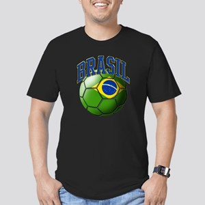 Flag of Brasil Soccer  Men's Fitted T-Shirt (dark)