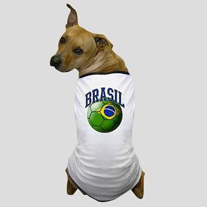 Flag of Brasil Soccer Ball Dog T-Shirt
