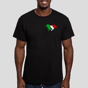 Wavy Italian Flag Men's Fitted T-Shirt (dark)