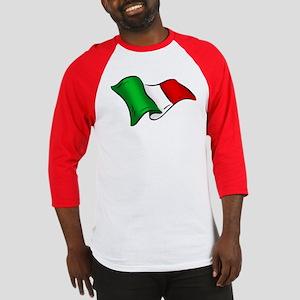 Wavy Italian flag Baseball Jersey